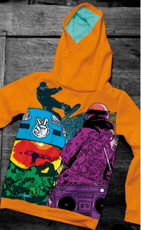 snowboard orange bluza
