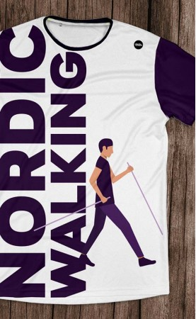 nordic walking purple