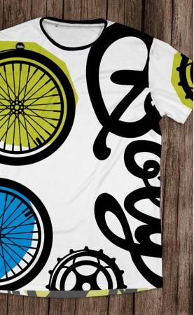 rower zielono-żółty