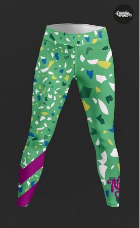zielone konfetti legginsy