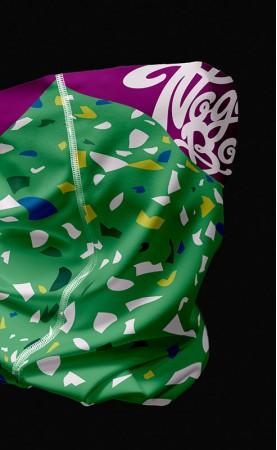 zielone konfetti komin