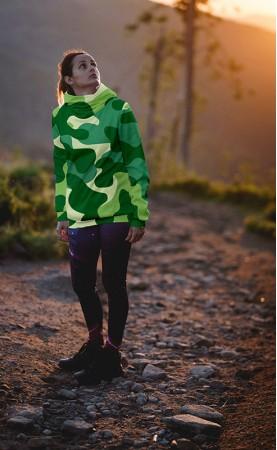 zielony kamuflaż bluza