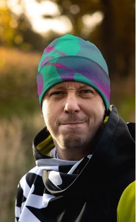 czapka fluo-zielo