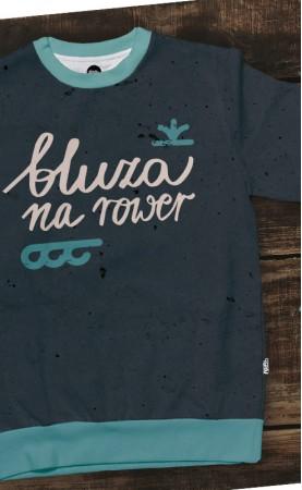szara na rowerprosta bluza