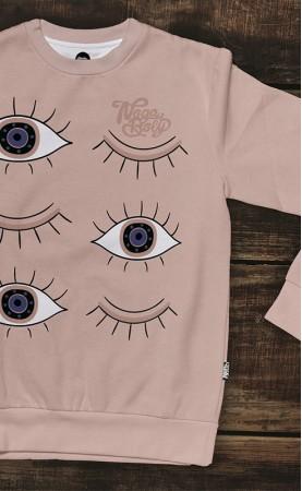 oczy łososiowe prosta bluza