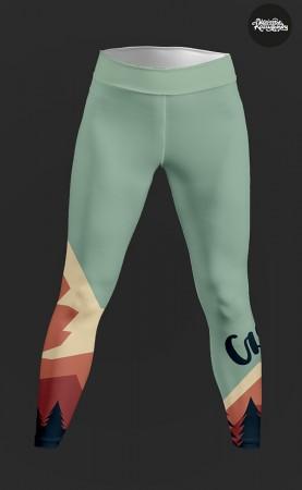 zielonkawe część legginsy